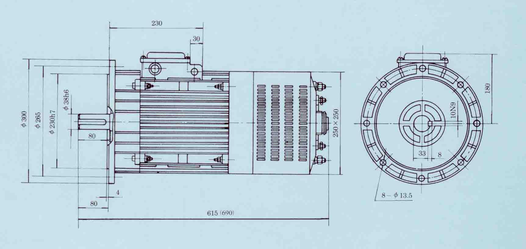 三相异步电动机_系列施工升降机电磁三相异步电动机